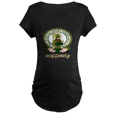 Rafferty Clan Motto Maternity Dark T-Shirt