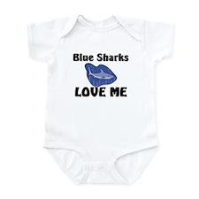 Blue Sharks Love Me Infant Bodysuit