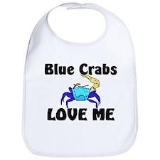 Blue Crabs Love Me Bib