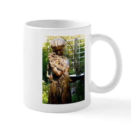 Victorian Girl Garden Statue Mug