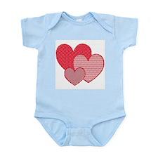 Three Hearts Infant Creeper