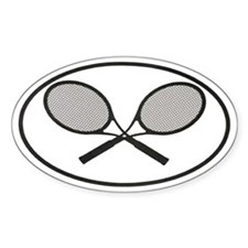 Tennis car stickers Oval Decal