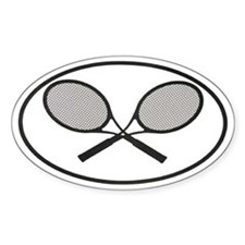 Tennis car stickers Oval Stickers
