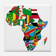 Flags of Africa Tile Coaster