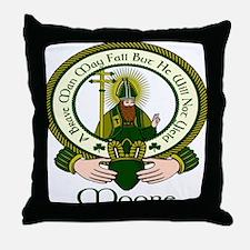 Moore Clan Motto Throw Pillow