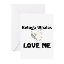 Beluga Whales Love Me Greeting Cards (Pk of 10)