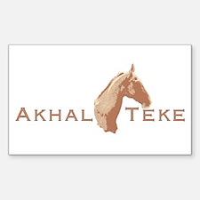 Akhal Teke Horse Rectangle Decal