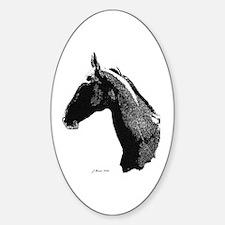 Akhal Teke Horse Oval Decal