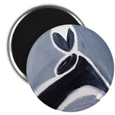 """study in black white and grey 2.25"""" Magnet (1"""
