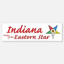 Indiana Eastern Star Bumper Bumper Bumper Sticker