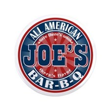 "Joe's All American BBQ 3.5"" Button"