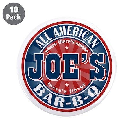 "Joe's All American BBQ 3.5"" Button (10 pack)"