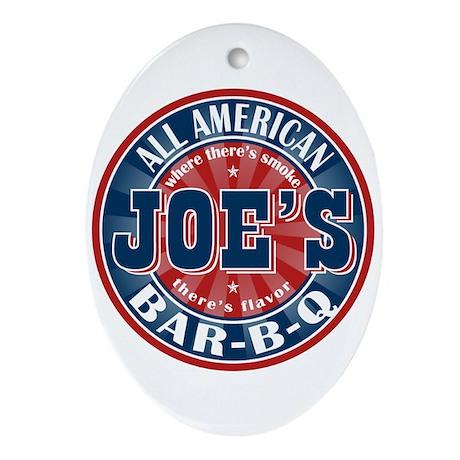 Joe's All American BBQ Oval Ornament