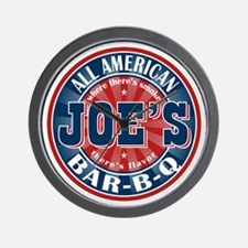 Joe's All American BBQ Wall Clock