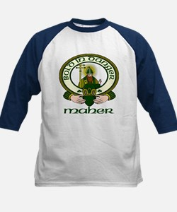 Maher Clan Motto Kids Baseball Jersey