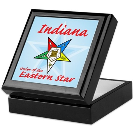 Indiana Eastern Star Keepsake Box