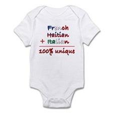 French Haitian Italian Infant Bodysuit