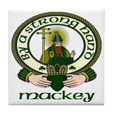 Mackey Clan Motto Tile Coaster