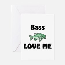 Bass Love Me Greeting Cards (Pk of 10)