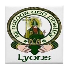 Lyons Clan Motto Tile Coaster