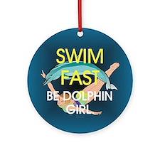 TOP Swim Slogan Ornament (Round)