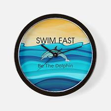 TOP Swim Slogan Wall Clock
