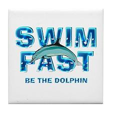 TOP Swim Slogan Tile Coaster
