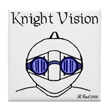 Knight Vision Goggles Tile Coaster