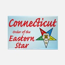 Connecticut Eastern Star Rectangle Magnet (10 pack