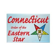 Connecticut Eastern Star Rectangle Magnet