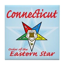 Connecticut Eastern Star Tile Coaster