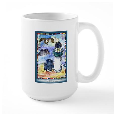 Bird Watching @ Yaquina Head Lighthouse Large Mug