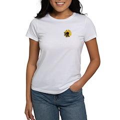 Sunflower/Giant Swallowtail Women's T-Shirt
