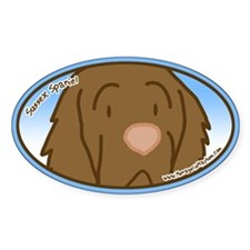 Anime Sussex Spaniel Oval Decal