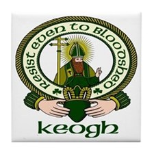 Keogh Clan Motto Tile Coaster