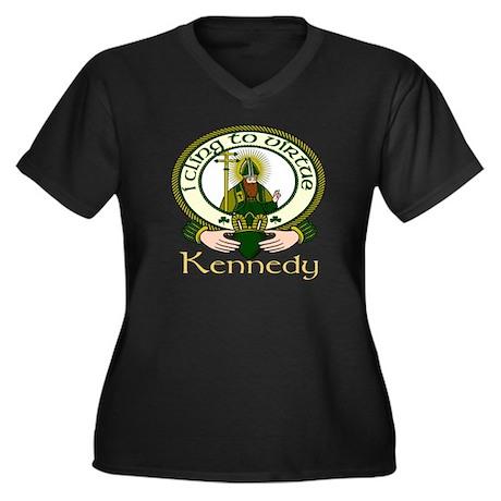 Kennedy Clan Motto Women's Plus Size V-Neck Dark T