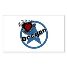 Love Oregon Rectangle Sticker 10 pk)