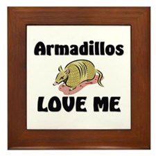 Armadillos Love Me Framed Tile