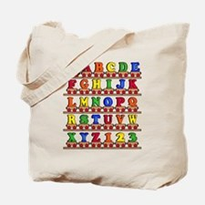 ABC Train Tote Bag