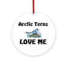 Arctic Terns Love Me Ornament (Round)