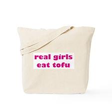 Real Girls Eat Tofu Tote Bag