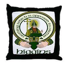 Higgins Clan Motto Throw Pillow