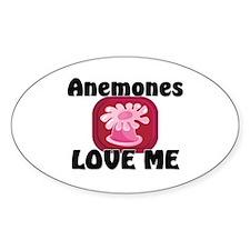 Anemones Love Me Oval Sticker