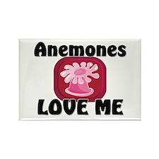 Anemones Love Me Rectangle Magnet