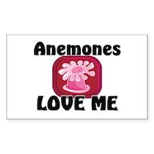 Anemones Love Me Rectangle Sticker