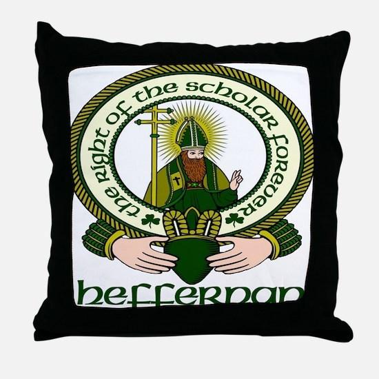 Heffernan Clan Motto Throw Pillow