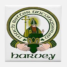 Harvey Clan Motto Tile Coaster
