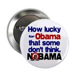 "Lucky for Obama 2.25"" Button (100 pack)"