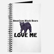 American Black Bears Love Me Journal