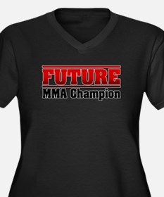 Future MMA Champion Women's Plus Size V-Neck Dark